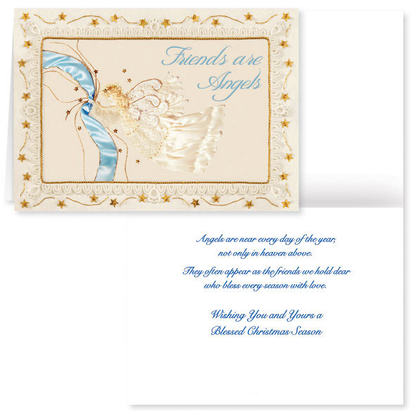 Satin Angel Christmas Card Set of 20