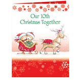 View All - Years Together Teddy Bear Couple Christmas Card Set of 20