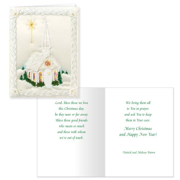 Satin Chapel Christmas Card Set of 20