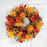 View All Clocks & Decorative Accents - Mum Wreath
