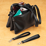 Apparel & Jewelry - 3-In-1 Detachable Handbag Black