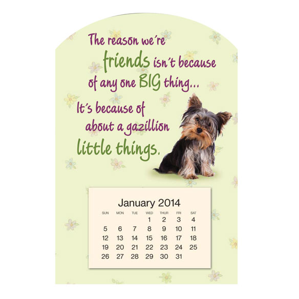 Mini Magnetic Puppy Calendar
