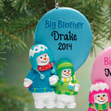 Milestones - Personalized Big Brother Ornament