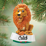 Personalized Circus Lion Ornament