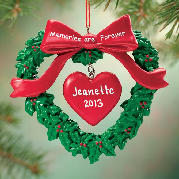 Personalized Memorial Heart Ornament