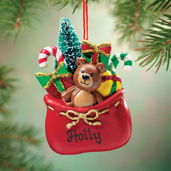 Personalized Santa's Gift Sack Ornament