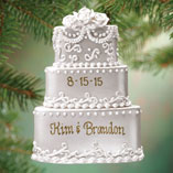 Ornaments - Personalized Wedding Cake Ornament
