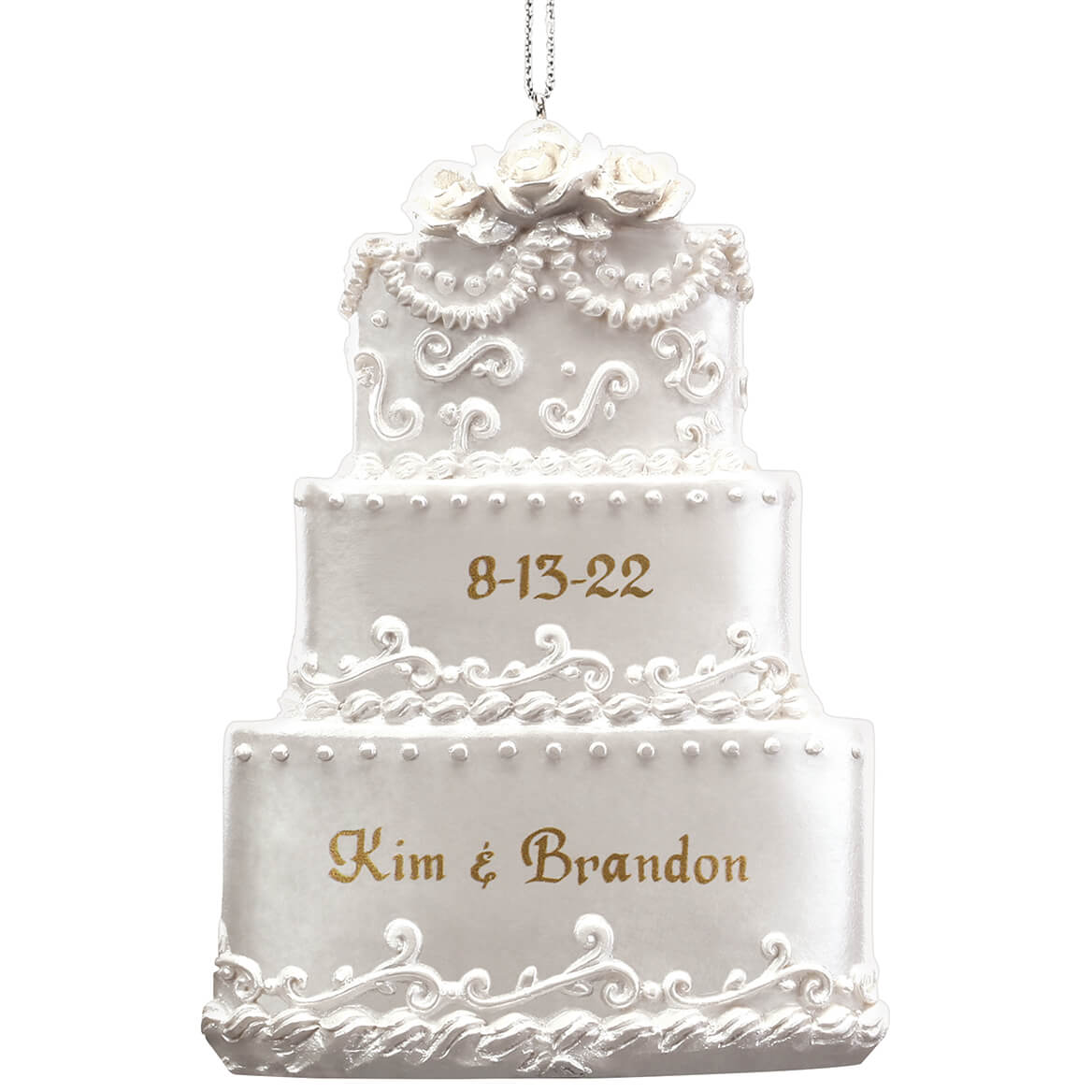 Personalized Wedding Cake Ornament