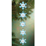Personalized 5 Snowflakes Ornament