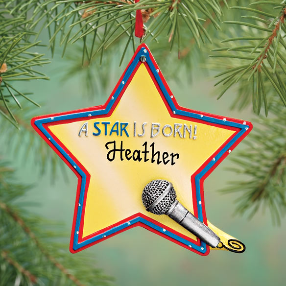 Personalized Star is Born Ornament