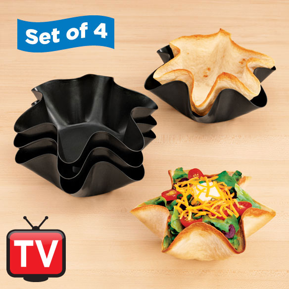 Fluted Taco/Tortilla Dishes Set of 4