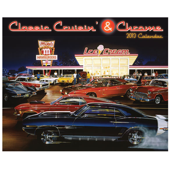 Classic Cruisin' & Chrome Wall Calendar