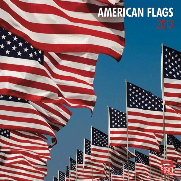 American Flags Wall Calendar