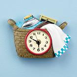 Laundry & Garment Care - Laundry Basket Clock