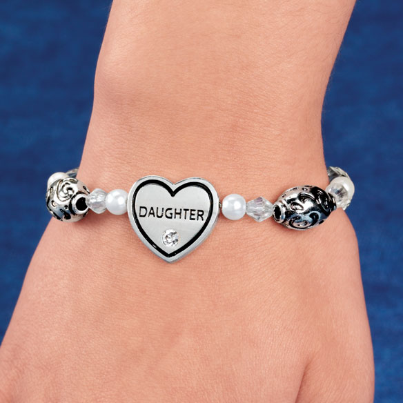 Family Heart Bracelets - View 1