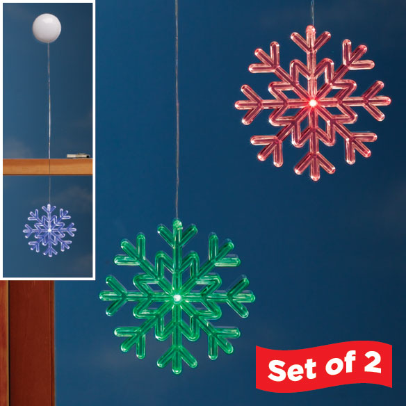 Color Changing Snowflake Set of 2