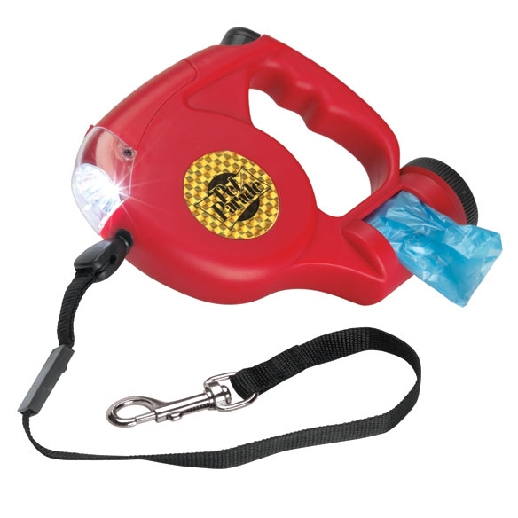 Dog Leash With Flashlight And Bags