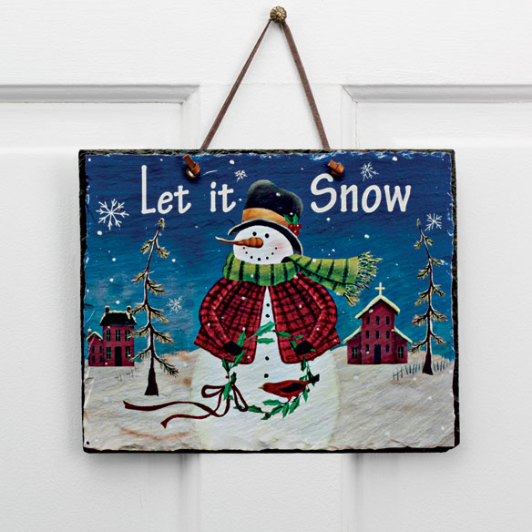 Snowman Wall Plaque