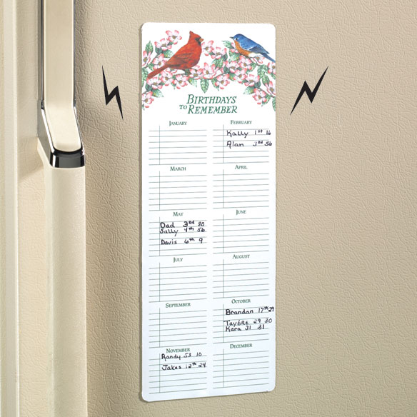 Bird Birthday Reminder Magnet
