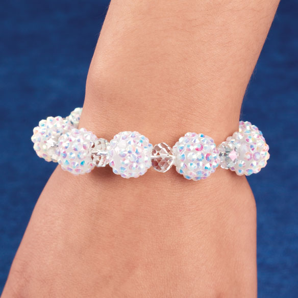 Snowball Glitz Stretch Bracelet