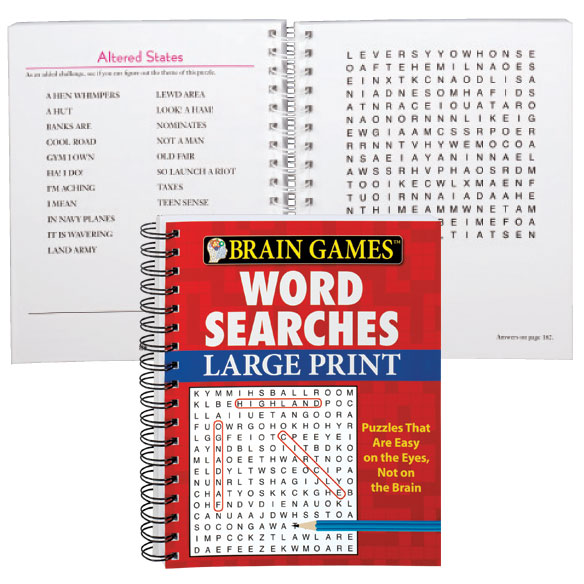Large Print Word Search #2