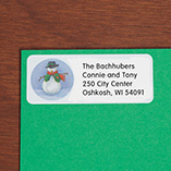 Address Labels & Seals - Snowman Return Address Labels - Set Of 250