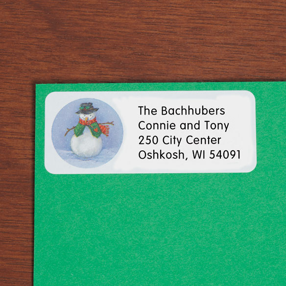 Snowman Return Address Labels - Set Of 250
