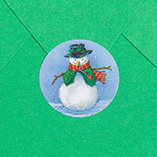 Address Labels & Seals - Country Snowman Enveloped Seals - Set of 250