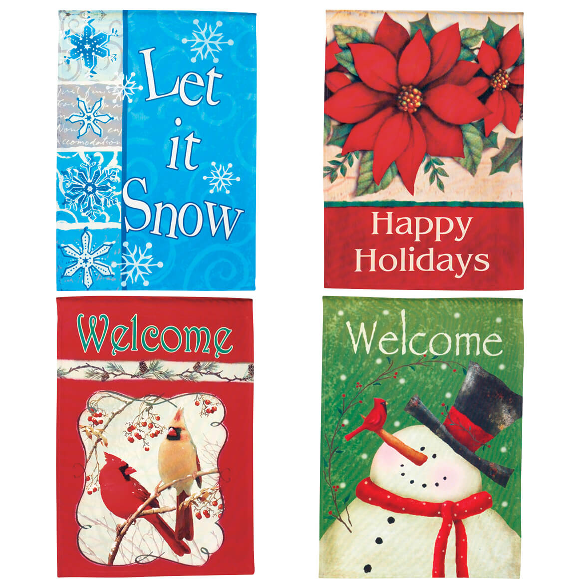 Set of 4 Holiday Flags-342964
