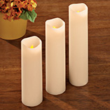 Clocks, Frames & Candles - Flameless Vanilla Scented Candles Set of 3