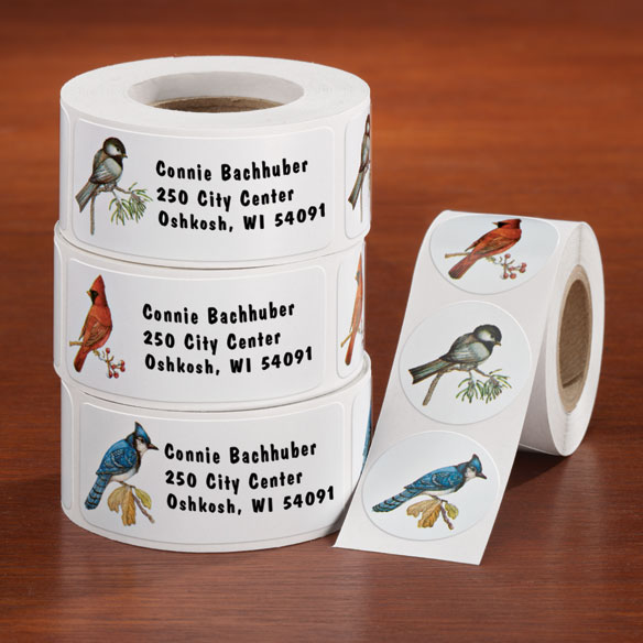 Wild Birds Labels And Seals