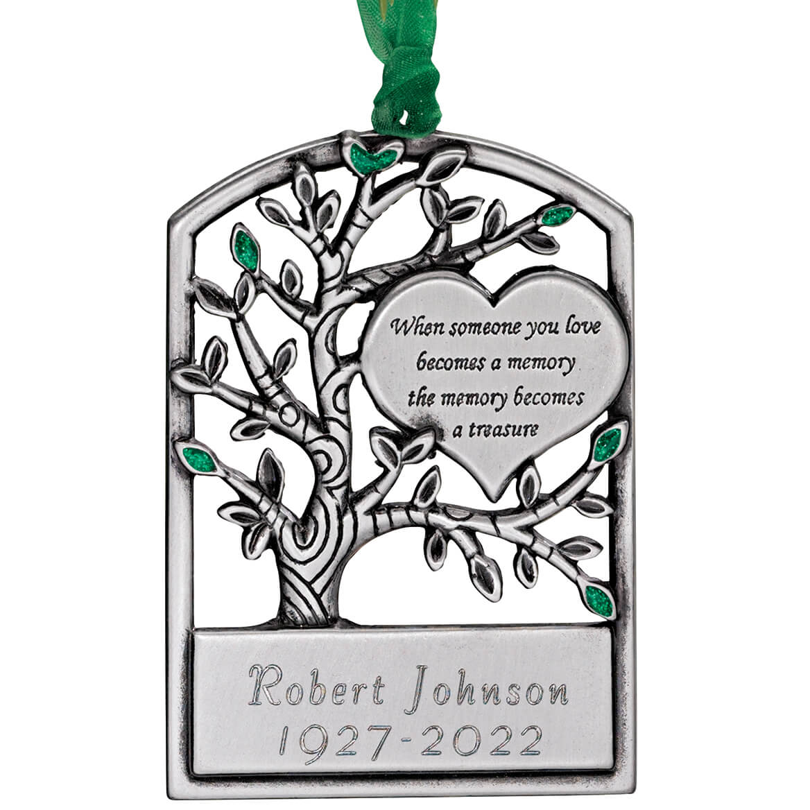 Personalized Pewter Memorial Tree Ornament - Miles Kimball