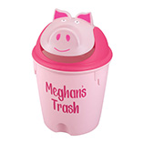 Personalized Childrens Pig Wastebasket