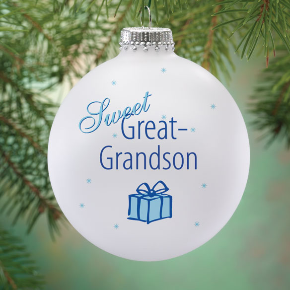 Personalized Sweet Great Grandson Ball Ornament