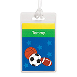 Children's Products - Personalized Sports Luggage Tag