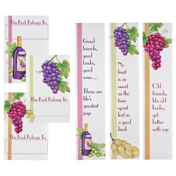 Wine Bookmarks & Bookplates Set - View 1