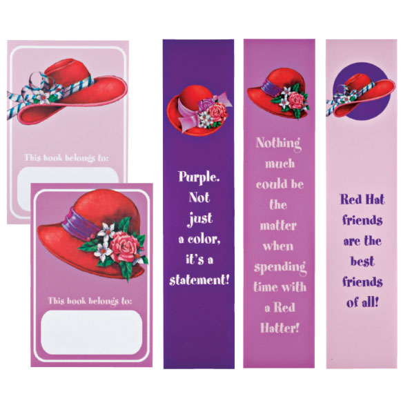 Red Hat Bookmarks & Bookplates Set