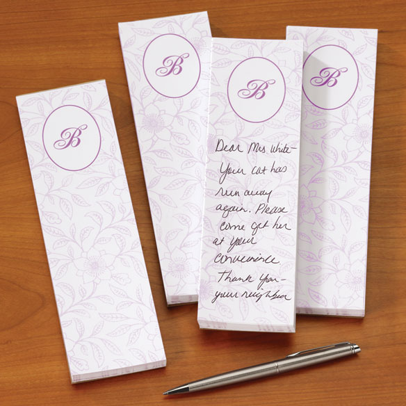 Monogram Notepads, Set of 4