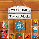 St. Patrick's Day - Personalized Welcome Sign With Seasonal Plaques