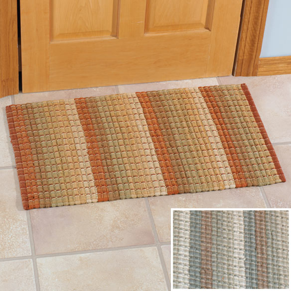 Hand Loomed Cotton Rug 34L x 20W