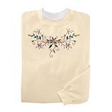 Everyday Sweatshirts - Fancy Floral Scroll Sweatshirt