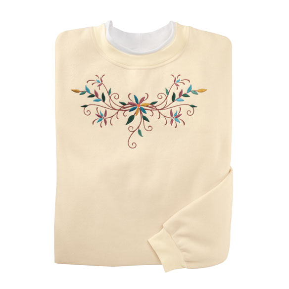 Fancy Floral Scroll Sweatshirt