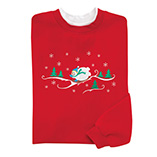 Sledding Snowman Sweatshirt