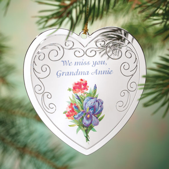Personalized Victorian Iris Memorial Ornament