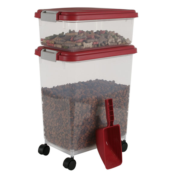 Airtight Container Combo w/ Scoop, Red
