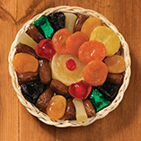 Dried Fruit in Round Basket 1 lb.
