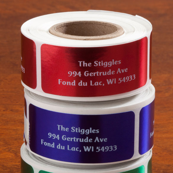 Jewel Tone Labels w/ white font 250