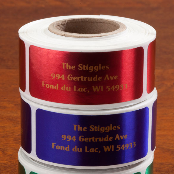 Jewel Tone Labels w/ gold font 250
