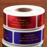Jewel Tone Labels w/ gold font 500