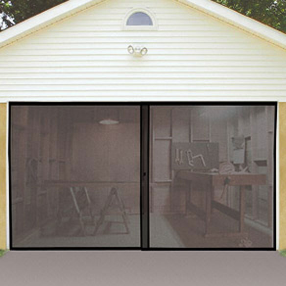 Retractable screen doors single garage 2017 2018 best for Retractable double garage door screen